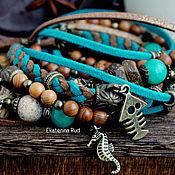 Украшения handmade. Livemaster - original item Beautiful multi-row bracelet on the hand BOHO-chic