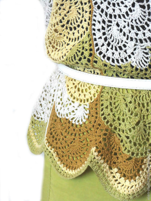 Блузки ручной работы. Ярмарка Мастеров - ручная работа. Купить блузка крючком Ах,лето. Handmade. Разноцветный, ручная работа