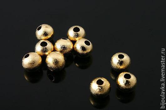 Для украшений ручной работы. Ярмарка Мастеров - ручная работа. Купить Бусина, позолота, 4 мм, Южная Корея. Handmade.