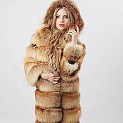 Одежда handmade. Livemaster - original item Fox fur coat with hood. Handmade.
