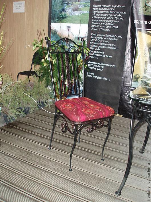 Мебель ручной работы. Ярмарка Мастеров - ручная работа. Купить Стул кованый. Handmade. Черный, Мебель, прованс, патина