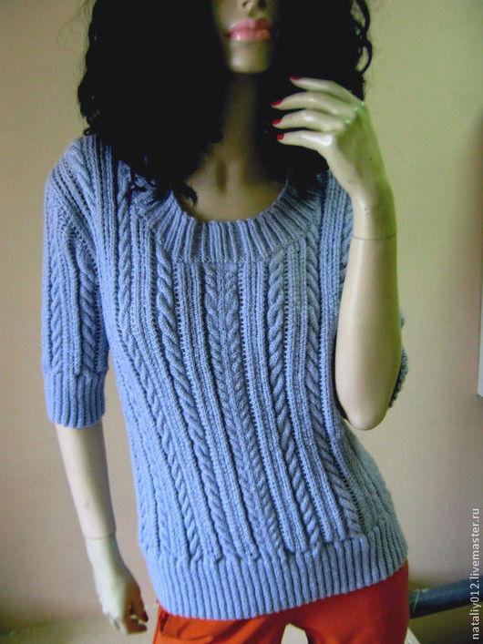 """Кофты и свитера ручной работы. Ярмарка Мастеров - ручная работа. Купить Вязаная кофта """"Blue romantic"""" 100% шерсть. Handmade."""