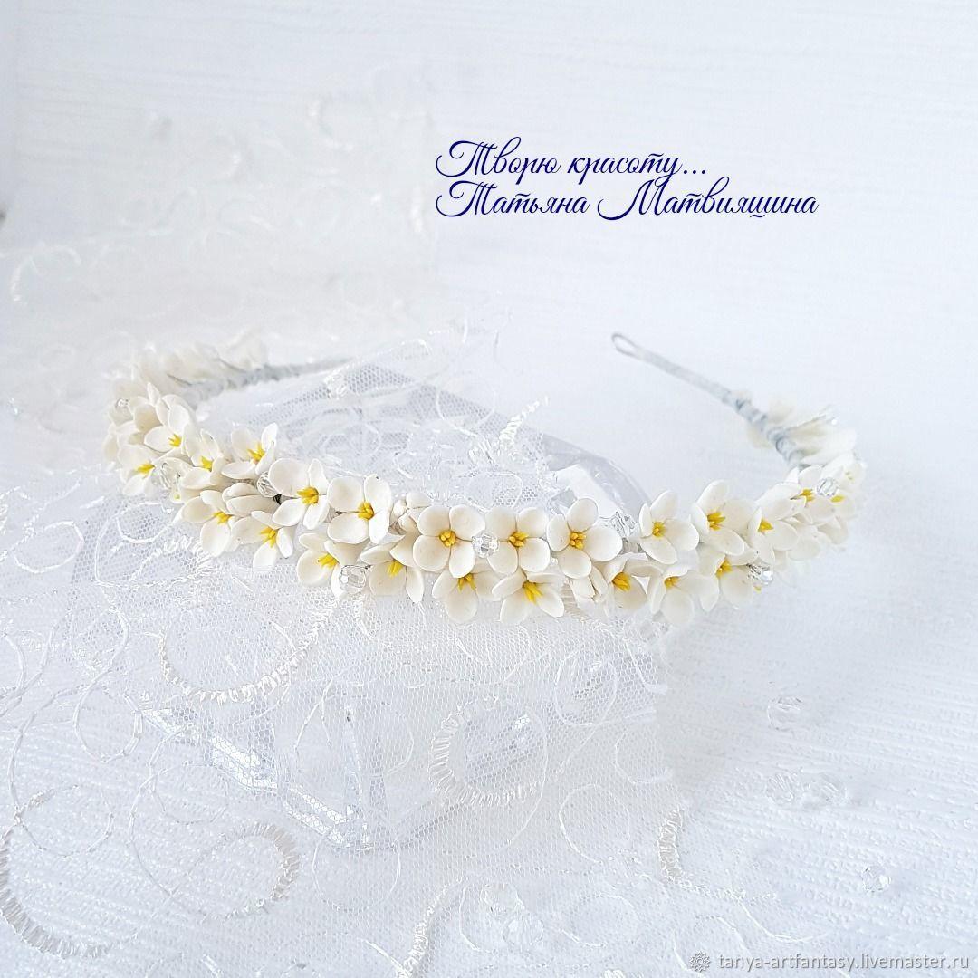 Tiara with flowers. Tiara wedding. Tiara for bride, Bridal Tiara, Vladivostok,  Фото №1