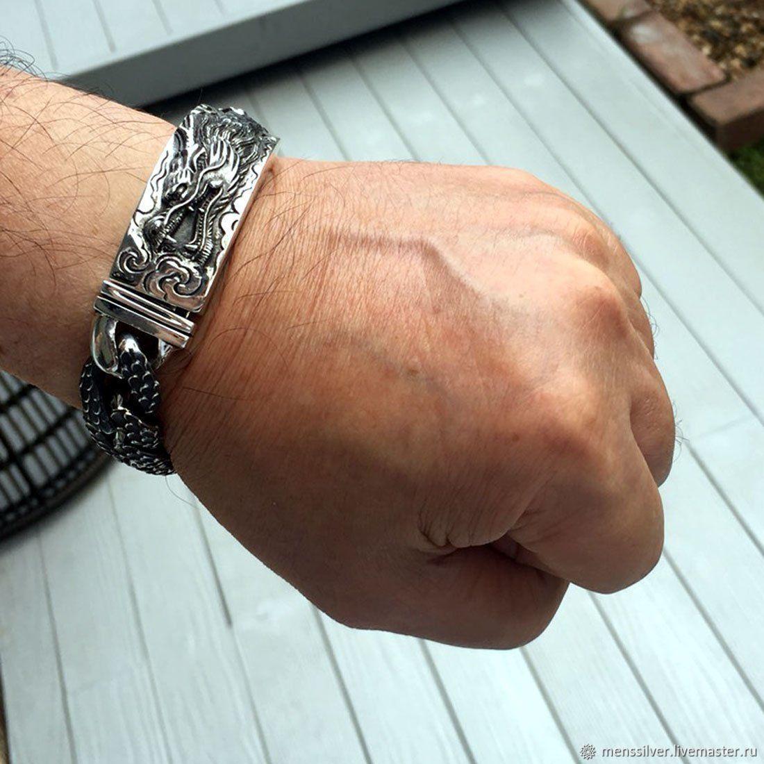 картинки мужских браслетов из серебра если был