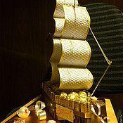 Кулинарные сувениры ручной работы. Ярмарка Мастеров - ручная работа Корабли из конфет. Handmade.