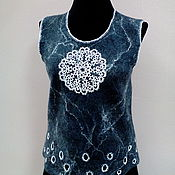 Одежда handmade. Livemaster - original item Vest felted snowflake. Handmade.