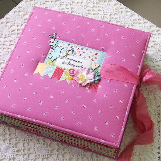 Фотоальбомы ручной работы. Ярмарка Мастеров - ручная работа. Купить Яркий альбом для маленькой принцессы. Handmade. Розовый, подарок