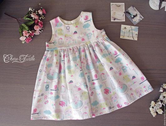 Одежда для девочек, ручной работы. Ярмарка Мастеров - ручная работа. Купить Платье на девочку № 9. Handmade. Комбинированный, хлопок