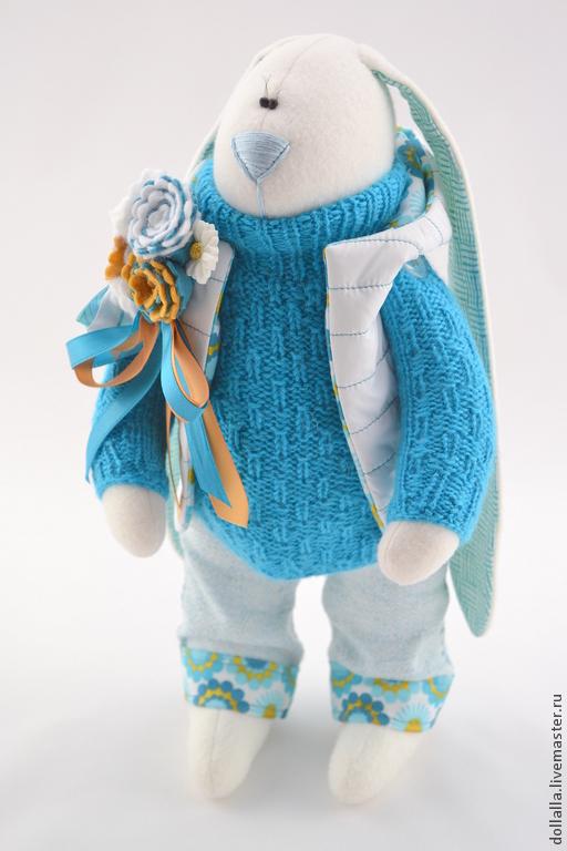 Зайцы Заяц Зайка Заяц из флиса Заяц текстильный Заяц тильда Игрушк Заяц Игрушки Куклы и игрушки Ручная работа Подарок Новый год