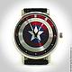 """Часы ручной работы. Ярмарка Мастеров - ручная работа. Купить Наручные часы """"Щит Капитана Америки"""".. Handmade. Комбинированный, супергерой"""