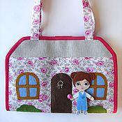 Куклы и игрушки ручной работы. Ярмарка Мастеров - ручная работа Кукольный домик - сумка 2. Handmade.