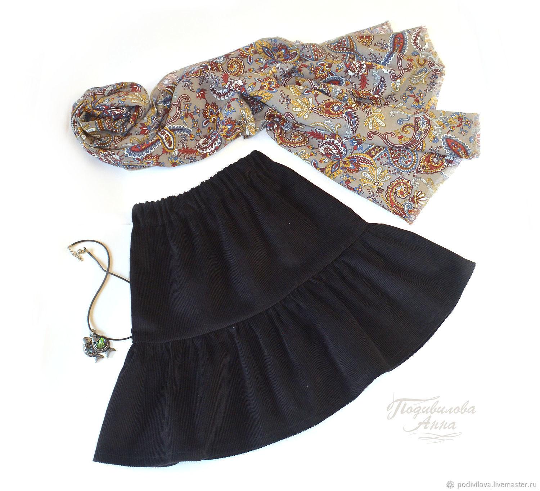Children skirt, skirt for girls, skirt spring, school uniforms, clothes for girls corduroy skirt ,clothes for Orthodox, grey, summer skirt, gray skirt, Anna Podivilova.