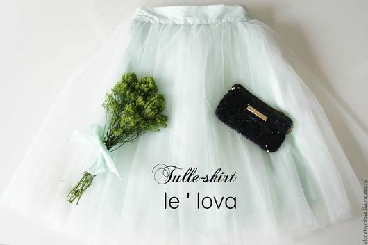 Юбки ручной работы. Ярмарка Мастеров - ручная работа. Купить Готовая юбка-пачка из еврофатина мятного цвета. Handmade.