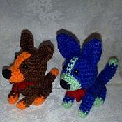 Куклы и игрушки ручной работы. Ярмарка Мастеров - ручная работа вязанная собачка амигуруми. Handmade.