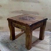 Для дома и интерьера ручной работы. Ярмарка Мастеров - ручная работа Столик из массива со славянской символикой. Handmade.