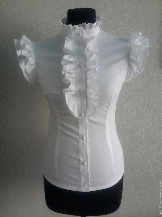 Блузки ручной работы. Ярмарка Мастеров - ручная работа. Купить Блузка Анжела в белом. Handmade. Белый, белая блузка