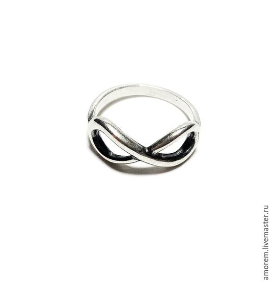 Кольца ручной работы. Ярмарка Мастеров - ручная работа. Купить Кольцо Бесконечность. Handmade. Серебряный, кольца, фаланговые кольца, серебро