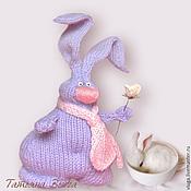 Куклы и игрушки ручной работы. Ярмарка Мастеров - ручная работа Влюбленный Кролик. Игрушка зайка, авторская, вязаная спицами.. Handmade.