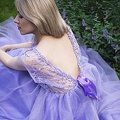 Одежда ручной работы. Ярмарка Мастеров - ручная работа Кружевное платье с веточками. Handmade.