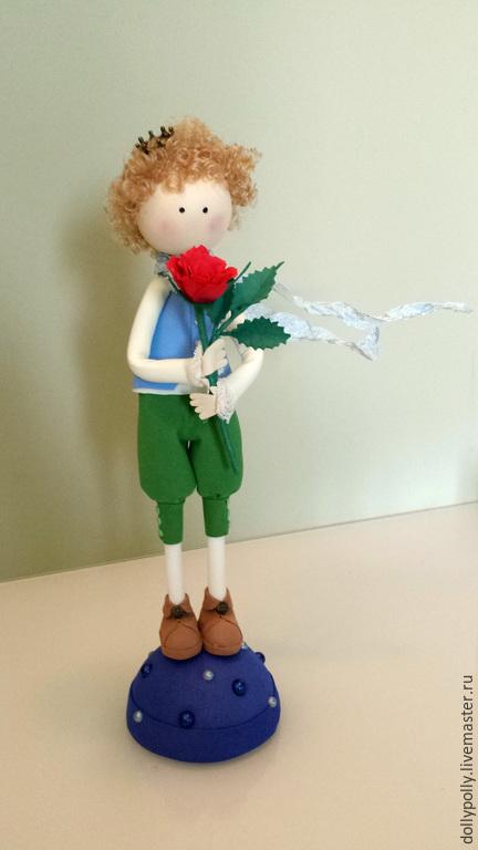 Коллекционные куклы ручной работы. Ярмарка Мастеров - ручная работа. Купить Маленький принц. Handmade. Синий, планета, фоамиран
