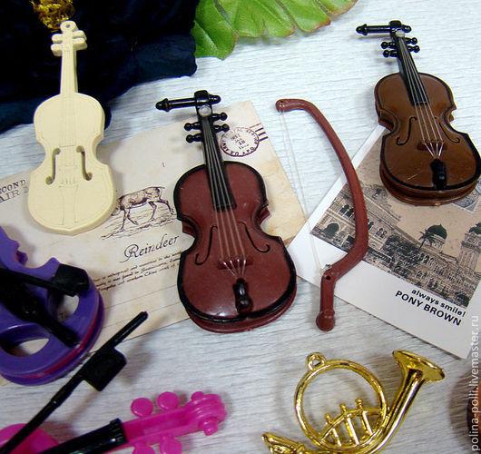 Куклы и игрушки ручной работы. Ярмарка Мастеров - ручная работа. Купить Мини Скрипка для кукол (пластик). Handmade. Аксессуары для кукол