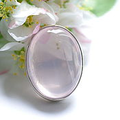 Украшения handmade. Livemaster - original item Ring with large rose quartz