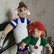 Куклы и игрушки ручной работы. Ярмарка Мастеров - ручная работа Карлсон и Фрекен Бок. Handmade.