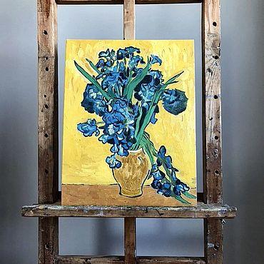 Картины и панно ручной работы. Ярмарка Мастеров - ручная работа Картины: Ирисы. Handmade.