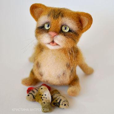 Куклы и игрушки ручной работы. Ярмарка Мастеров - ручная работа Кот Пират, авторская игрушка из шерсти. Handmade.