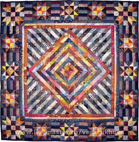Blanket bedspread patchwork CHRISTMAS NIGHT
