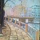 Город ручной работы. Ярмарка Мастеров - ручная работа. Купить Cанкт-Петебург. Handmade. Город, набережная, мост, пастель