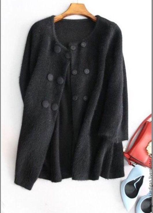 Кофты и свитера ручной работы. Ярмарка Мастеров - ручная работа. Купить Кардиган из ангорки. Handmade. Черный, кашемир, мягкий кардиган