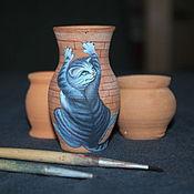 Для дома и интерьера handmade. Livemaster - original item ceramic pot painting