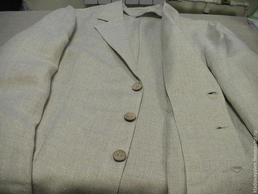 Пиджак мужской изо льна  (лен 100%)