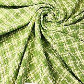 Материалы для творчества handmade. Livemaster - original item Fabric: Tweed boucle Chanel light green. Handmade.