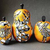 Для дома и интерьера handmade. Livemaster - original item Interior composition Golden Fruit Scandinavian Design. Handmade.