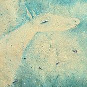 Картины и панно ручной работы. Ярмарка Мастеров - ручная работа Цветочный запах облаков...Картина-принт на холсте.. Handmade.