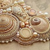 "Украшения handmade. Livemaster - original item Jewelry set ""Golden Sands"" - necklace, bracelet, earrings. Handmade."