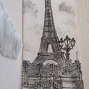 """Галстуки ручной работы. Ярмарка Мастеров - ручная работа Галстук """"Эйфелева башня"""". Handmade."""