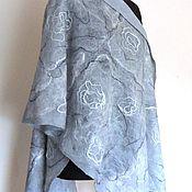 Аксессуары handmade. Livemaster - original item Silver - large nanovolokna tippet. Handmade.