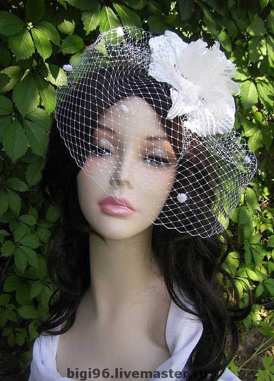 Wedding veil with fancy flower, Hats, Moscow,  Фото №1