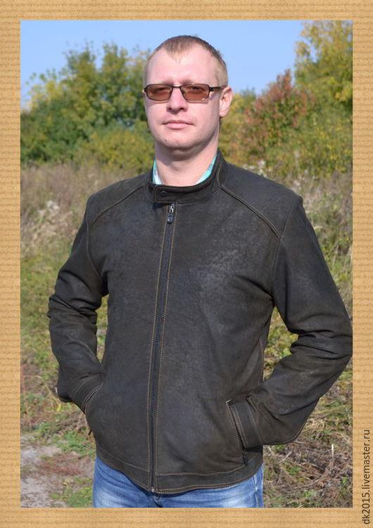 Верхняя одежда ручной работы. Ярмарка Мастеров - ручная работа. Купить Куртка кожаная мужская. Handmade. Коричневый, куртка мужская