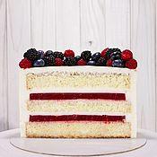 Декор торта ручной работы. Ярмарка Мастеров - ручная работа Малиновый торт на заказ Москва. Handmade.
