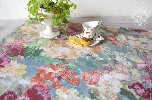 Текстиль, ковры ручной работы. Ярмарка Мастеров - ручная работа. Купить Небольшая скатерть или дорожка Цветы на холсте. Handmade.