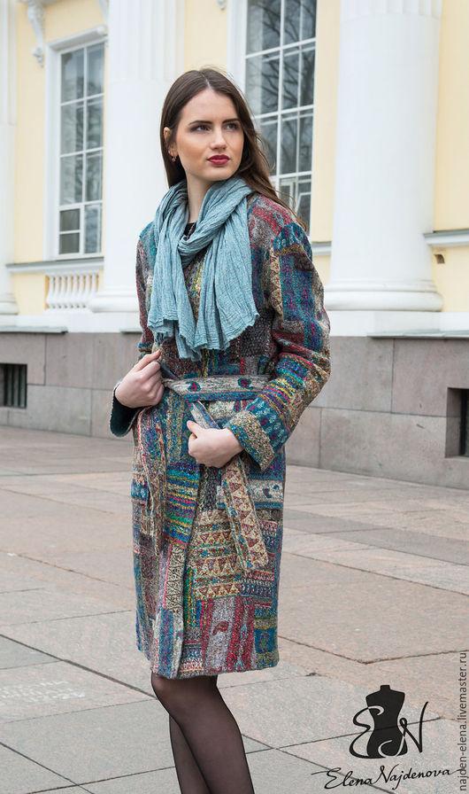 """Верхняя одежда ручной работы. Ярмарка Мастеров - ручная работа. Купить валяное  пальто """" patchwork"""". Handmade. Комбинированный, пэчворк"""