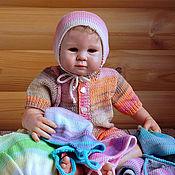 Работы для детей, ручной работы. Ярмарка Мастеров - ручная работа Детская шапочка из хлопка Весенне-осенняя. Handmade.