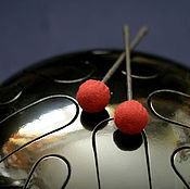 Музыкальные инструменты ручной работы. Ярмарка Мастеров - ручная работа Глюкофон черный (лепестковый тональный барабан). Handmade.