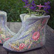 """Обувь ручной работы. Ярмарка Мастеров - ручная работа Чуни """"Ласковое утро"""". Handmade."""
