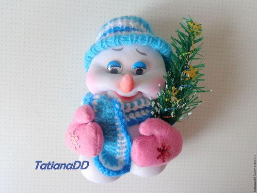 Сказочные персонажи ручной работы. Ярмарка Мастеров - ручная работа. Купить Снеговик. Handmade. Комбинированный, игрушка в подарок, сувениры и подарки