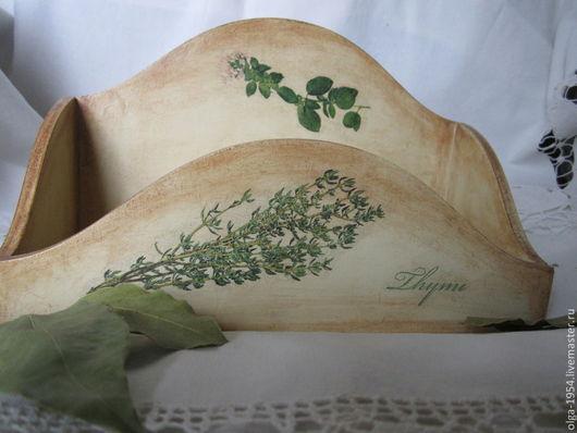 """Кухня ручной работы. Ярмарка Мастеров - ручная работа. Купить Короб для специй """"Пряные травы"""". Handmade. Бежевый, зеленый, тимьян"""